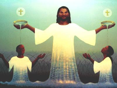 Holy Trinity Church Baptistery Mural