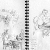 Saxy Ballroom Sketch Crawl