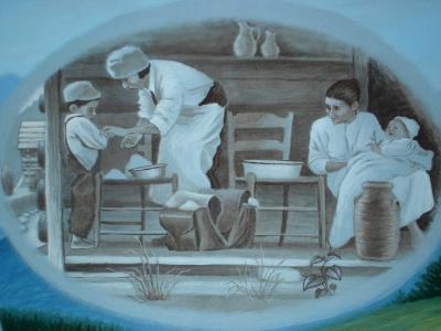 Nursing History Mural, detail (Settlement Nursing)