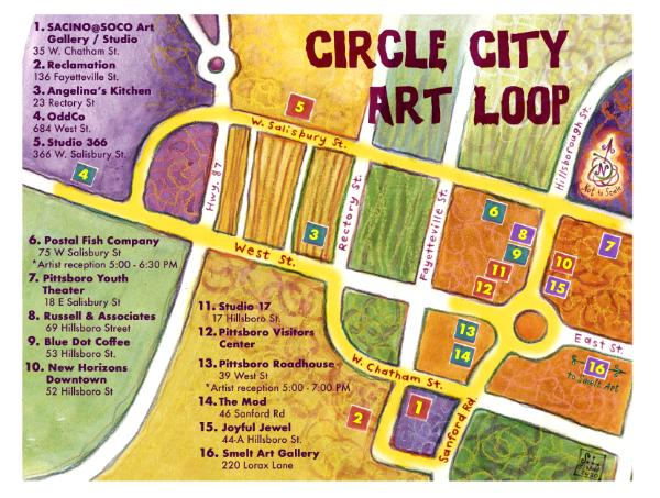 Circle City Art Loop Map