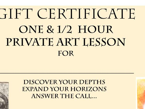 Private ART LESSONS - 20% Off