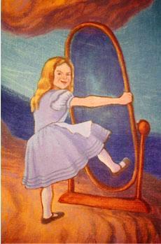 Wren Children's Mural, detail (Alice)