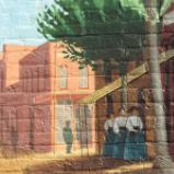 Farmer's Alliance Mural, detail. (Three Women)