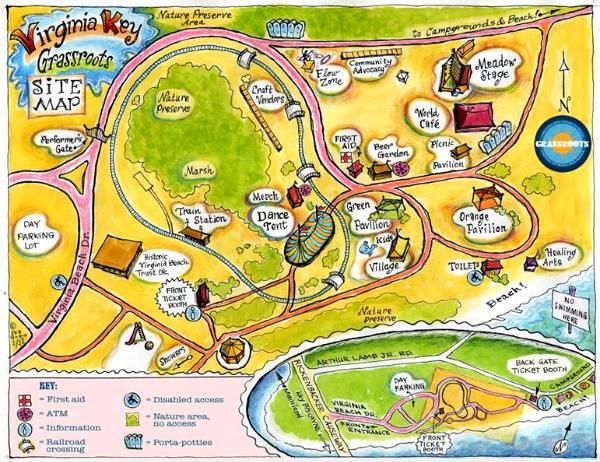 Virginia Key Festival Site Map