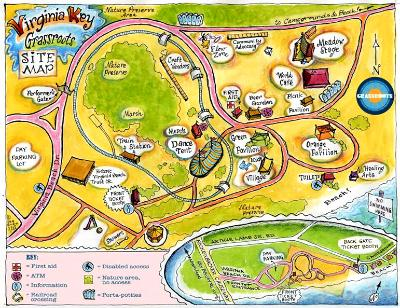 Virginia Key Festival Site Map