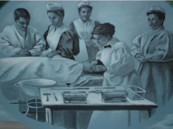 Nursing History Mural, detail (Hospital Nursing)
