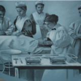 Nursing History Mural, detail (Hospital Nursing)