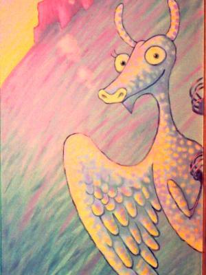 Wren Children's Mural, detail (Dragon)