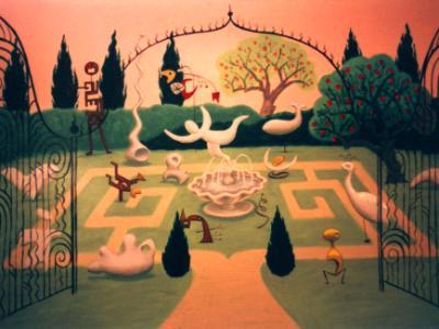 Rosemary House Inn mural