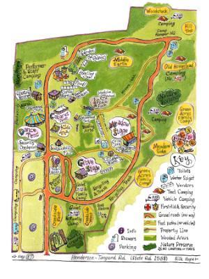 Shakori Hills Site Map